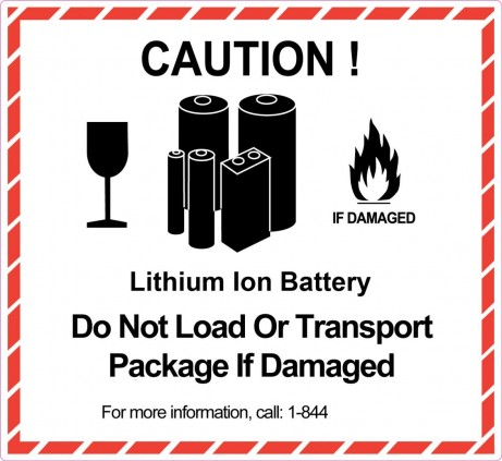 battery sticker